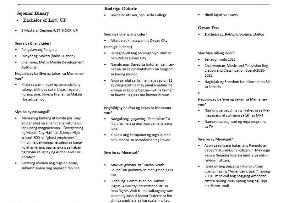 MGG briefer on presidential candidates p2